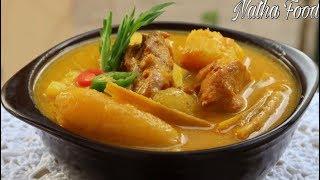 Cà ri gà khoai mì, cách nấu cà ri ăn không ngán, nước béo sệt rất thơm|| Natha Food