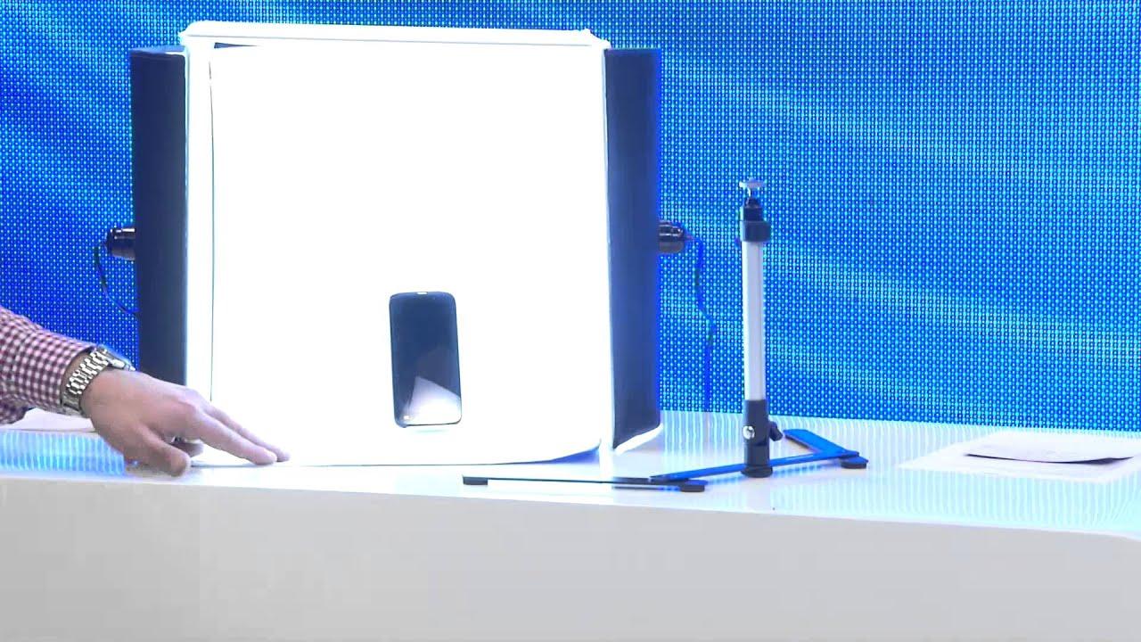 Somikon professionelle foto studio box inkl 2 fotolampen for Foto lampen