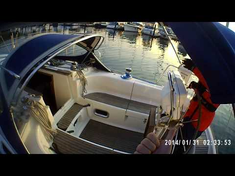 Video 2 - Departure - swinging the stern out - discussion of helm position
