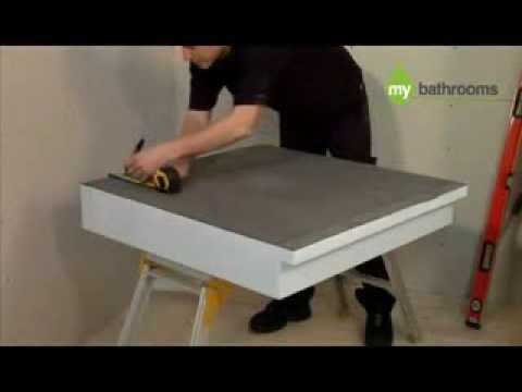 wet room shower tray kit instructions raised 150mm. Black Bedroom Furniture Sets. Home Design Ideas