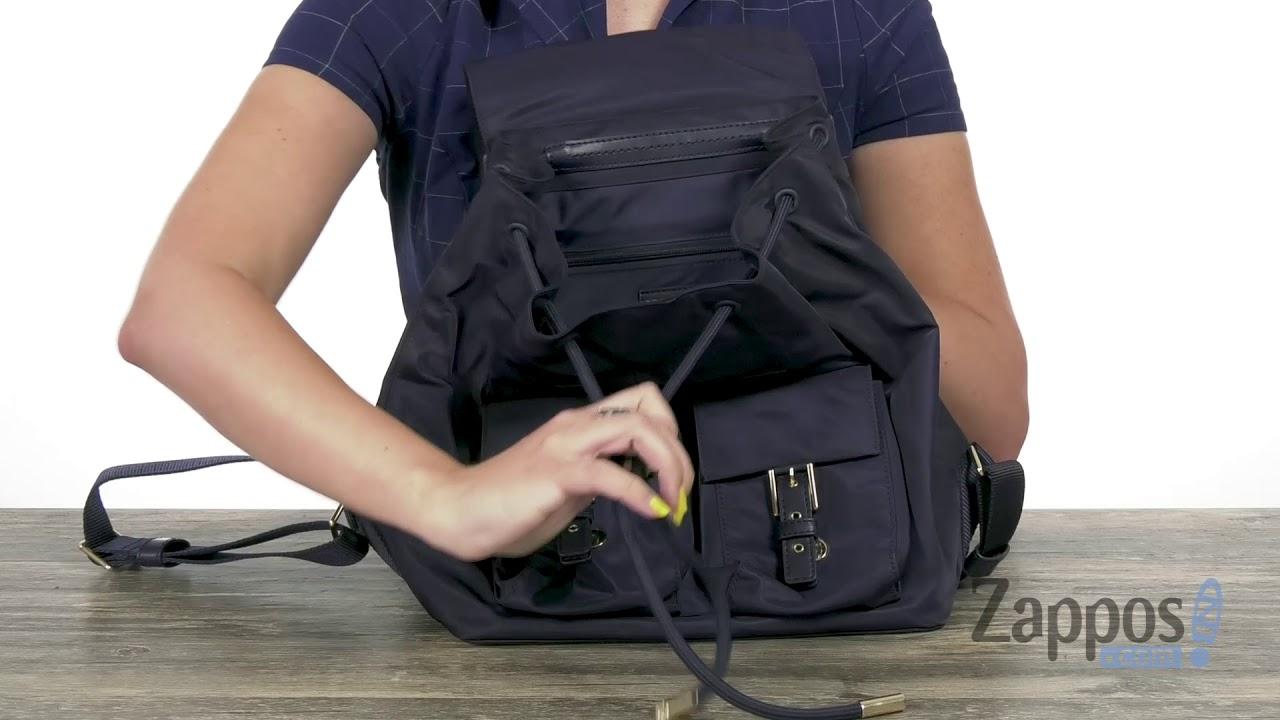 fa3c13bb50c Tory Burch Tilda Nylon Flap Backpack SKU  9143668 - YouTube