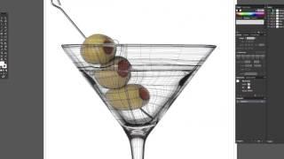 Martini Glass Gradient Mesh Tutorial (pt.2)