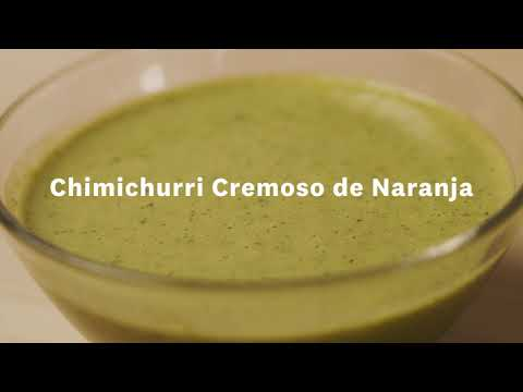 Thumbnail to launch Creamy Orange Chimichurri Spanish video