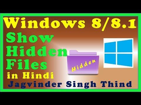 Show Hidden Files and Folders in Windows 8 (8.1) in Hindi