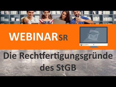 Die Rechtfertigungsgründe des StGB (Webinar) ► juracademy.de from YouTube · Duration:  1 hour 4 minutes 1 seconds