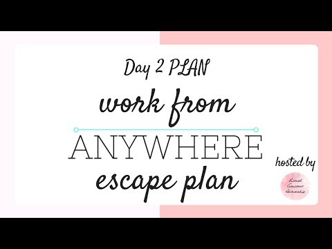 Work From Anywhere Escape Plan: Day 2 PLAN