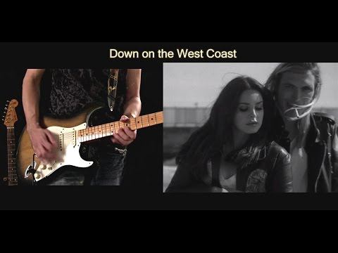 Lana Del Rey - West Coast Guitar Cover and Solo ( with Lyrics )