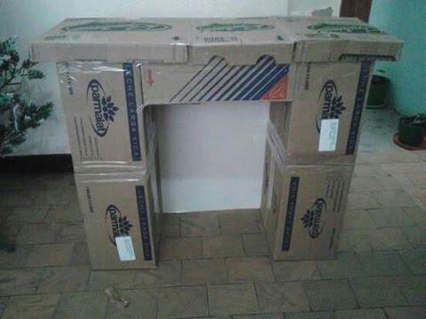 Como hacer una chimenea con cajas de carton youtube - Dekokamin ikea ...