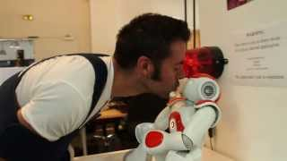 Kissed by a robot