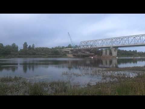 Демонтаж старого моста через р.Волхов