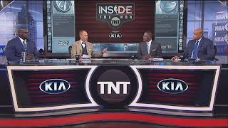 Ernie Johnson roasts Shaq about his 50 point playoff game..lmfao
