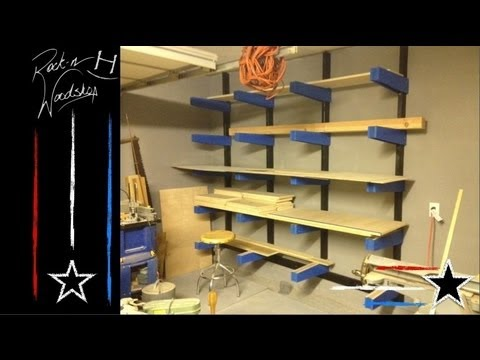 DIY Wood Lumber Rack