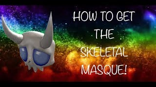 How to get the new SKELETAL MASQUE in the ROBLOX 2018 Halloween event