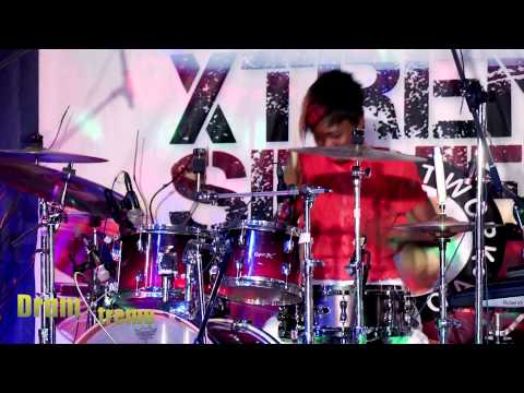 Naija's No1 female drummer Topsticks Live @drumxtreme series2