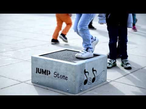 JumpStone: human powered interactive playground equipment