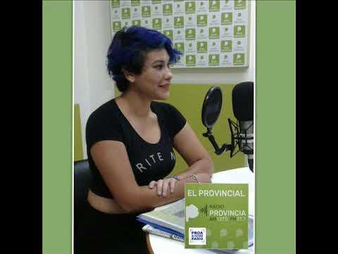 Denise Salinas cantó en vivo en los estudios de Radio Provincia.