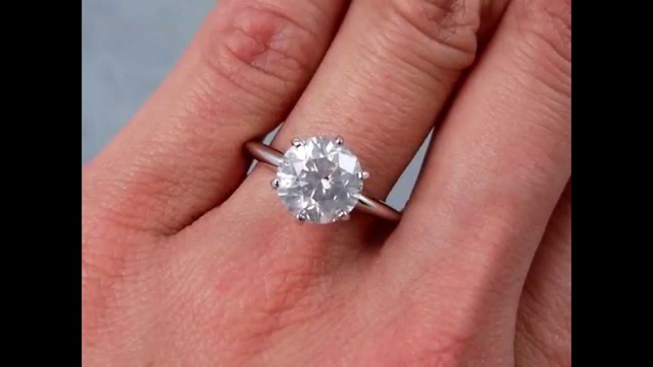 2.72 ct Round Brilliant Cut Solitaire Engagement Ring ...