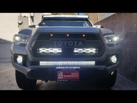 2018 Tacoma Hidden Grille Light Bar Youtube