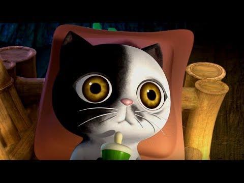 Белая кошечка мультфильм
