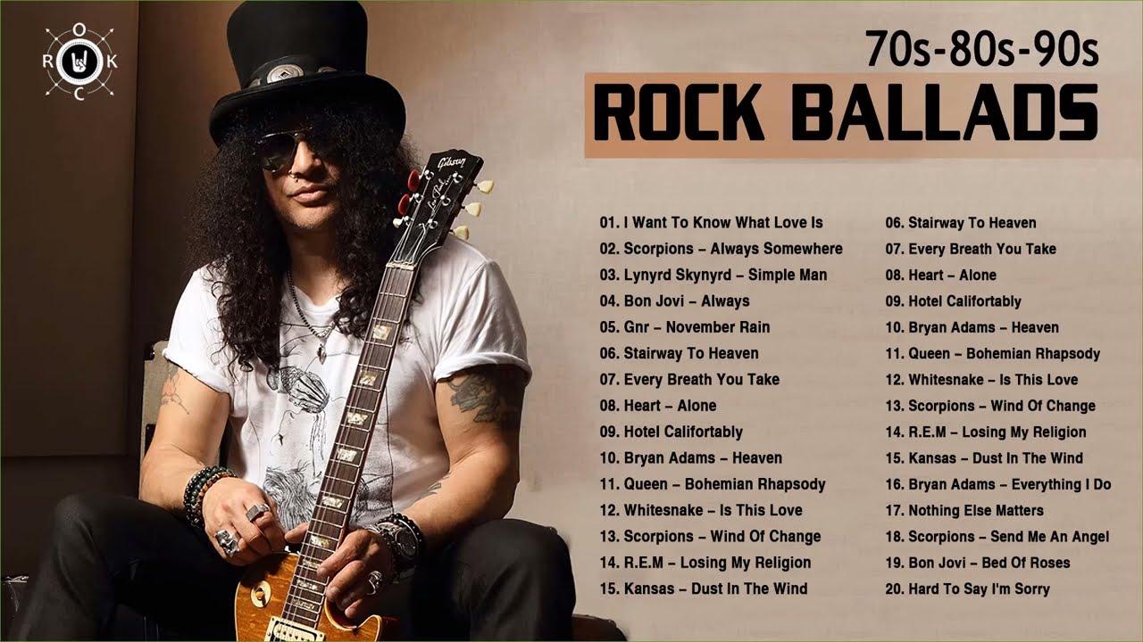 Best Rock Ballads Songs Of 70s 80s 90s | Rock Ballads Playlist Maxresdefault