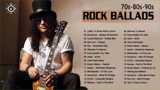 Best Rock Ballads Songs Of 70s 80s 90s | Rock Ballads Playlist