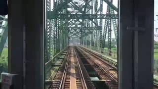 2019.8.18(日)10:39 近鉄京都線 前面展望【桃山御陵前〜大久保】
