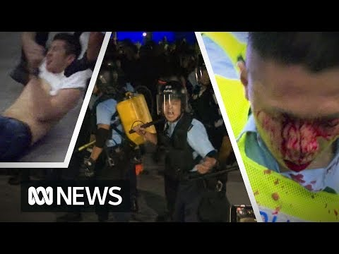 Hong Kong protests over extradition law turn ugly as riot police clash with demonstrators | ABC News