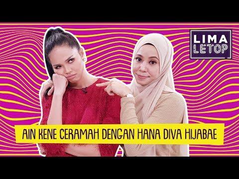 LimaLeTop! | Ain Edruce Kene Ceramah Dengan Hana Diva Hijabae