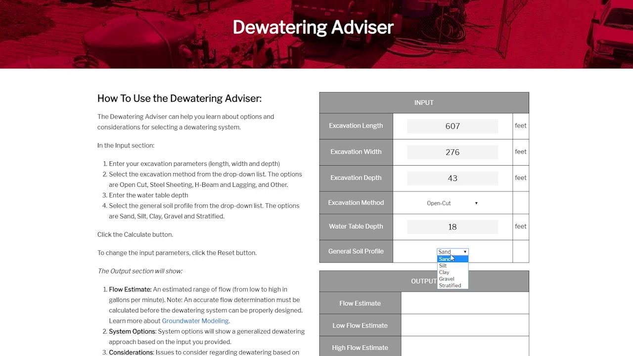 Dewatering Adviser | Griffin Dewatering