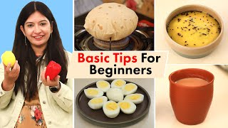 Basic COOKING TIPS & TRICKS for Beginners | CookWithNisha