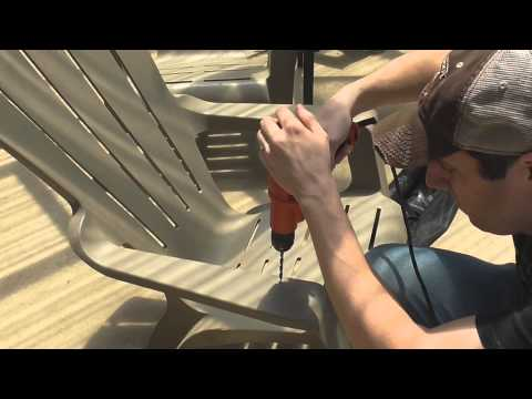 How to Add a Cup Holder to an Adirondack Chair
