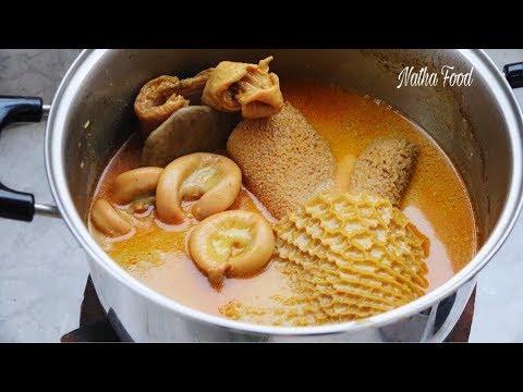 Phá lấu bò, cách làm lòng bò thơm ngon được ưa thích || Natha Food