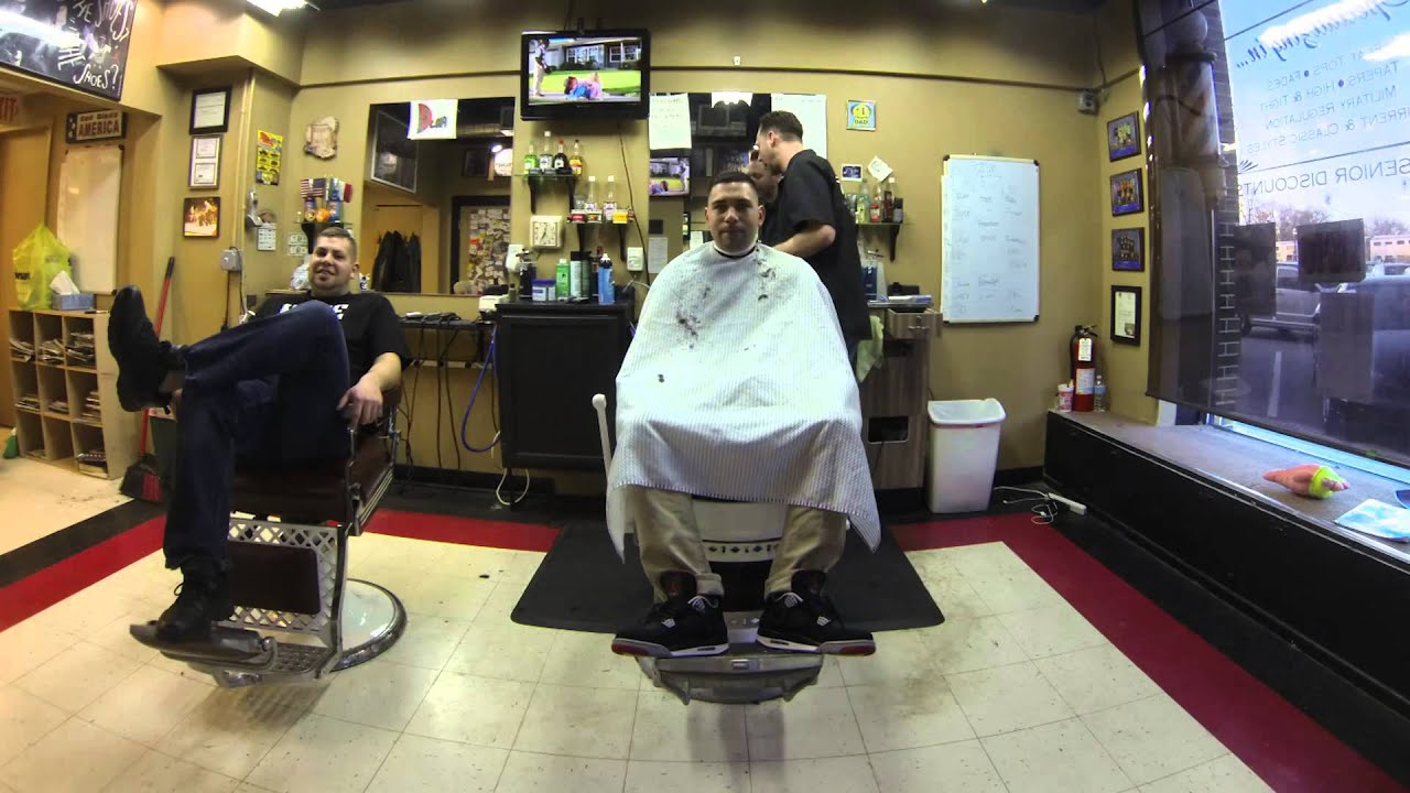 Slims Barber Shops ridiculous time lapse movie. - YouTube