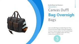 testDuffel Bags for Women [Hot New]: Canvas Overnight Bag Travel Duffel Genuine Leather