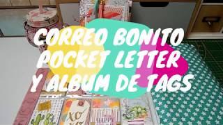 Correo Bonito | Pocket letter y album de tags | Yoltzin Handmade