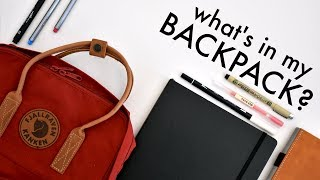 What's in my Backpack? // Kanken Nº 2 + New Stationery