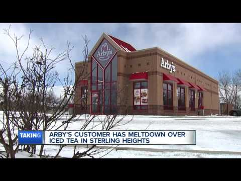 Arby's customer has meltdown over ice tea in Sterling Heights