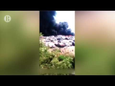 Incendio en corralón de Cabo San Lucas