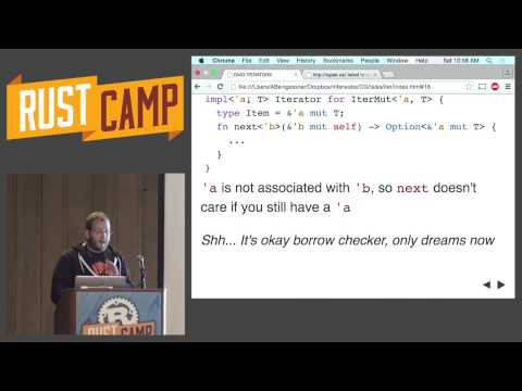 RustCamp 2015 - Who Owns This Stream of Data? by Alex Beingessner