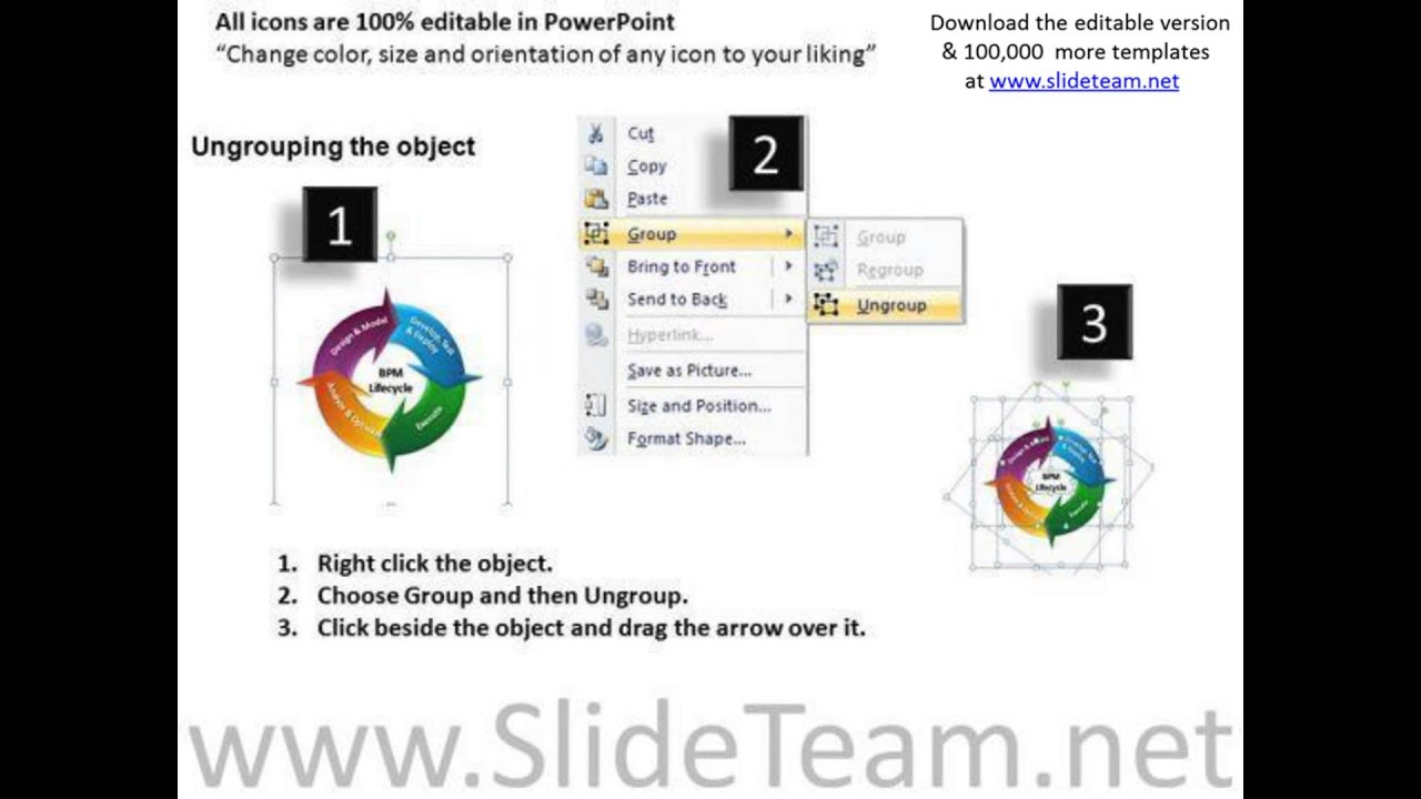 Editable Process Flow Lifecycle Powerpoint Slides And Ppt Diagram In Templates