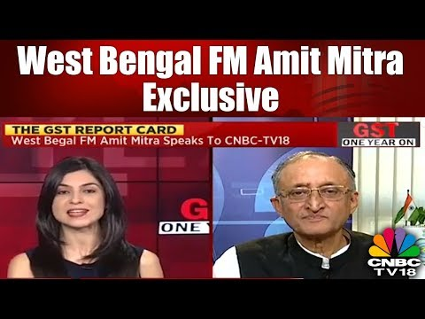 West Bengal FM Amit Mitra Exclusive | GST Regime: The Year That Was | CNBC TV18