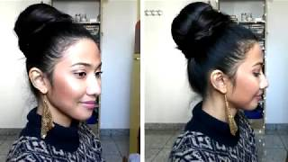 INDIAN HAIRSTYLES  Sonam Kapoor Classic Hair Bun Easy Party Hairstyles