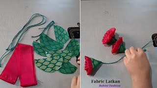 How to make fabric latkan for blouse design|simple and easy method of making fabric latkan