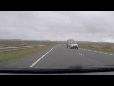 Dornoch Firth Bridge - northbound - A9 - Scotland by car