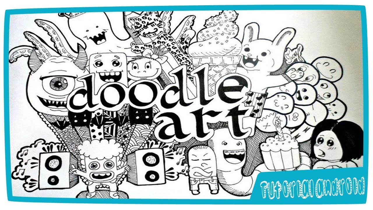 Cara Membuat Doodle Art Name Di Android YouTube