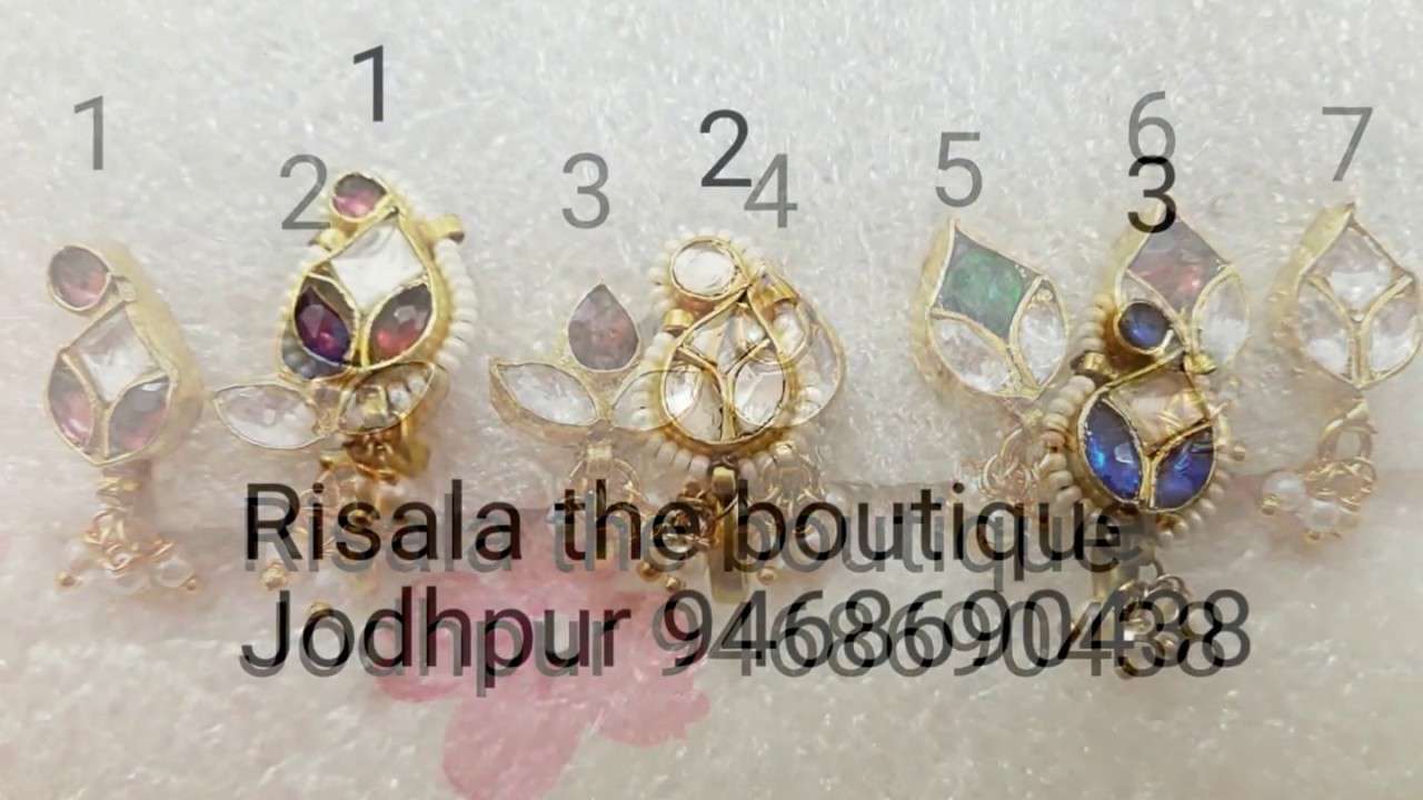 Besar Nose Pin Design By Risala The Boutique By Rajputi Poshak Risala The Boutique Jodhpur