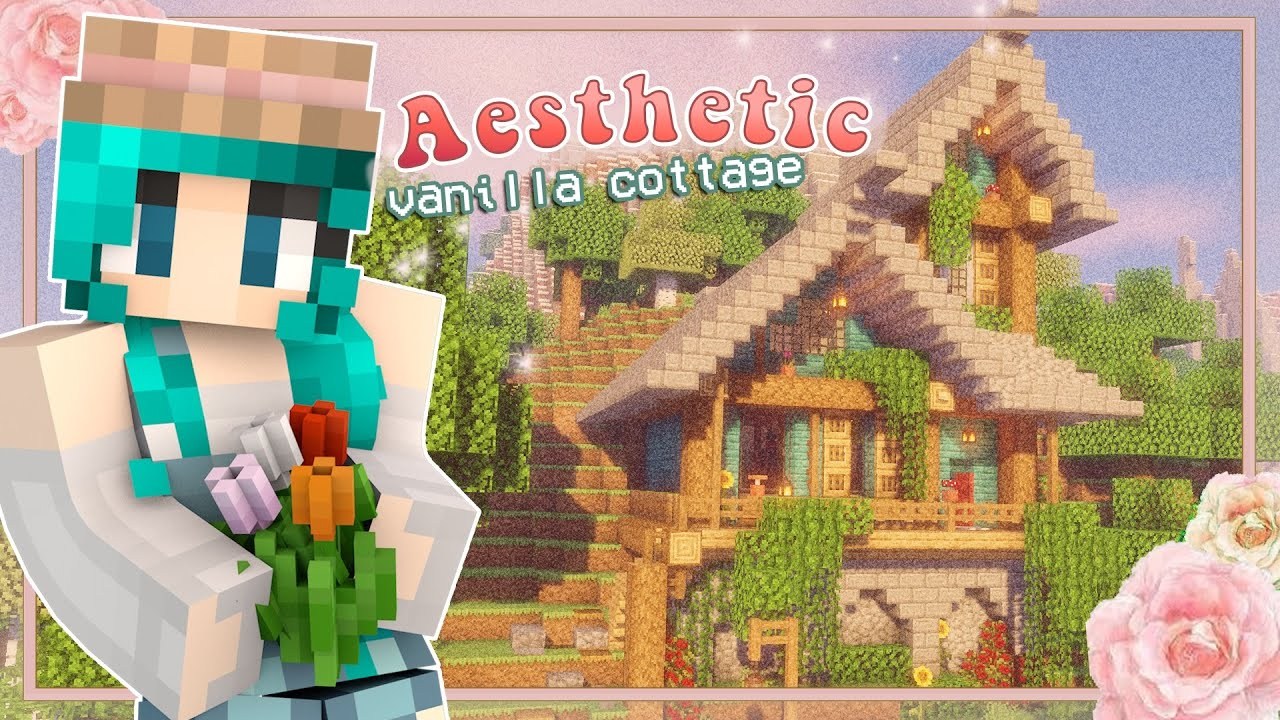 Aesthetic Minecraft Vanilla Cottage Cute Build Decorate Youtube