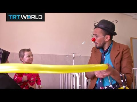 The Gaza Clown: Ex-cancer patient brings laughter to sick kids