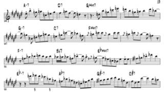 Chris Potter Cherokee in 12 (10) keys Solo transcription