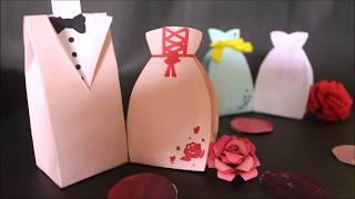 DIY| 禮服女孩禮物袋 (婚禮/情人節/母親節) - 可下載圖紙 (中文字幕) @GN Zimetra